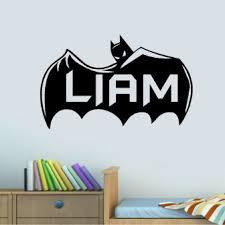 Personalised Name Wall Batman Decal Wood Custom Baby Art Family Stickers Canada Unicorn Australia Vamosrayos