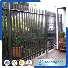 China Steel Black Backyard Metal Fence China Fence Metal Fence