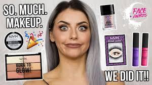 nyx face awards uk final 20 makeup haul