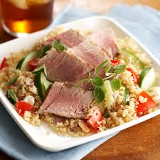 Quinoa Salad with Seared Tuna Recipe ...