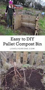 Build An Easy Wooden Compost Bin Using Pallets Modern In 2020 Wooden Compost Bin Vegetable Garden Design Compost Bin Pallet