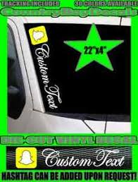 Snapchat 22 Custom Text Vinyl Decal Sticker Diesel Truck Car Boost Turbo Snap Ebay