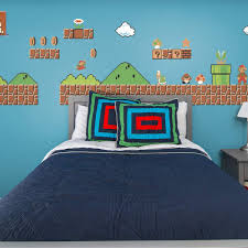 Nes Super Mario Bros Room Theme Officially Licensed Nintendo Removable Wall Decals