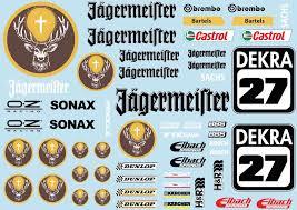 Xray Rc A5 Sticker Sheet Nt1 T4 Xb9 Rx8 Electric Nitro Car Decals R C Orange W
