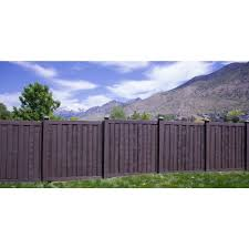 Simtek Ashland 6 Ft H X 6 Ft W Walnut Brown Composite Fence Panel Wp72x72dbr The Home Depot In 2020 Fence Panels Fence Design Decorative Fence Panels