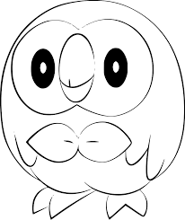 Pokemon Coloring Pages Rowlet In 2020 Kleurplaten Pokemon Tekenen
