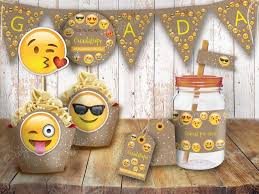 Kit Emoji Emoticon Rustico Dia Del Nino Imprimibles Personalizables