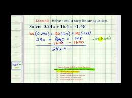 solving two step equations decimals