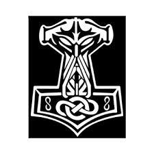 2pcs Thor S Hammer Mjolnir Viking Norse Odin Car Sticker Decal Heathen Freyja Buy Car Sticker Decal Window Sticker Transfer Sticker Product On Alibaba Com
