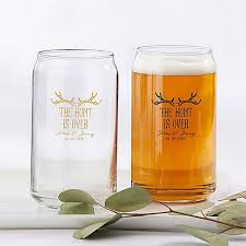 personalized 16 oz beer can glass favors