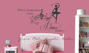 Pin By Becki On Bedroom Lexi Dance Wall Decal Girls Room Decals Gym Wall Decor