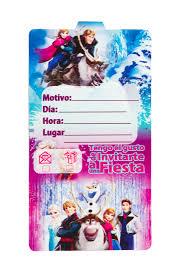 Tarjetas De Invitacion Frozen Mister Pinatas