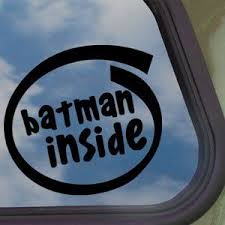 Batman Inside Car Decal Via Amazon Home Geekonomics Truck Window Stickers Inside Car Batman