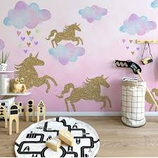 Cartoon Unicorn Star Wall Stickers For Kids Rooms Girls Rooms Bedroom Decor Animal Wall Art Unicorn Party Kids Room Decoration Buy At The Price Of 1 19 In Aliexpress Com Imall Com