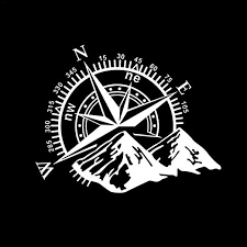Amazon Com Reakfaston Car Sticker Car Decal 60x50cm 3d Compass Rose Navigate Mountain Offroad Vinyl Car Decal Stickers Home Kitchen
