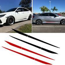 For Honda Civic 2016 2020 Stripe Pre Cut Side Door Skirt Decal Sticker Black Red Ebay