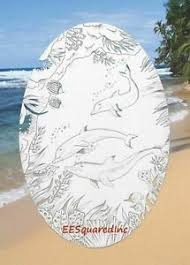 Dolphins Etched Window Decal 15x23 Oval Static Cling Glass Door Tropical Decor Ebay