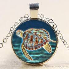 whole colorful jewelry sea turtle