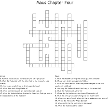 Maus Chapter Four Crossword Wordmint