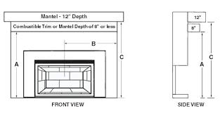 fireplace width utagas co