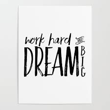 work hard and dream big success quote motivational quote