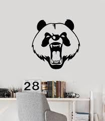 Vinyl Wall Decal Evil Panda Head Animal Bear Stickers 3494ig Wallstickers4you