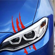 40cm 12cm Car Reflective Monster Sticker Black Red Scratch Stripe Claw Marks Car Auto Headlight Vinyl Decal Car Styling Car Stickers Aliexpress