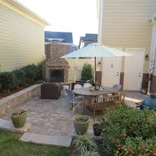 outdoor living space with a natural