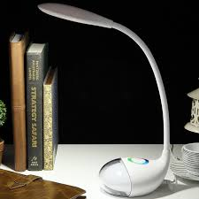 Teardrop Plug In Touch Study Lamp Kid Plastic Child Room Reading Light In White With 7 Colors And Flexible Gooseneck Arm Beautifulhalo Com