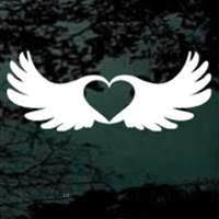 Heart Inside Angel Wings Decals Car Stickers Decal Junky