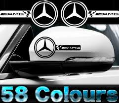Product Amg Mercedes Car Wing Mirror Decals Vinyl Sticker