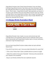 FREE™ ANGRY BIRDS HACK}]- Angry Birds Hack Free Unlimited ...