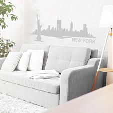 Amazon Com New York City Outline New York City Skyline Wall Vinyl Decal For School Classroom Library Kids Room Travelers Mm93 Kitchen Dining
