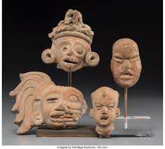 Four Pre-Columbian Head Fragments. ... (Total: 4 Items) Ceramics & | Lot  #70484 | Heritage Auctions