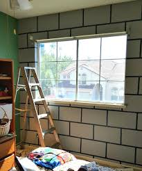 diy minecraft bedroom block wall