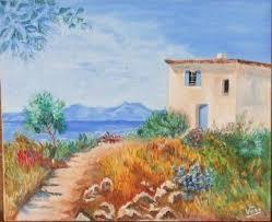 la maison du lac painting by veronique