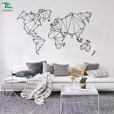 Abstract Map World Geography Wall Stickers Living Room Bedroom Removable Wall Decals Vinyl Mural Earth Sticker 3 Jpg Road Less Travelled