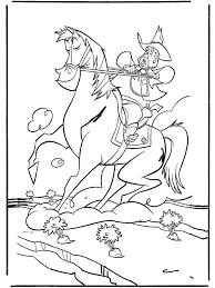 Cowboy Te Paard Kleurplaten Paarden