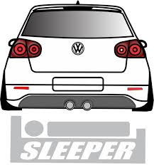 Mk5 Big Turbo Sleeper Decal V2 Just My Lids