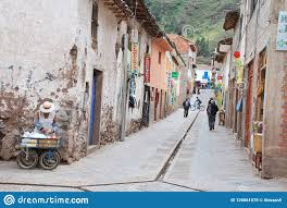 Street Scene In The Town Of Pisac ...