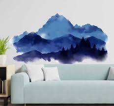 Paper Cut Mountains Nature Wall Sticker Tenstickers