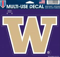 Amazon Com Wincraft Ncaa University Of Washington Multi Use Colored Decal 5 X 6 Sports Fan Decals Sports Outdoors
