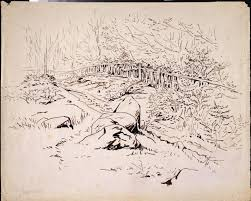 A Boulder Strewn Path With A Fence And A Wood On One Side Potter Beatrix V A Search The Collections