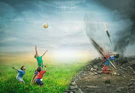 صوره تعبر عن الواقع اطفال سوريا خلفية حزينة المصمم ادم حلس
