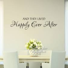 Family Quote Wall Sticker Creative Love Quote Wall Decal And They Lived Happily Ever After Diy Cut Vinyl Removable Decor Q49 Family Quotes Quote Wall Decalwall Sticker Aliexpress