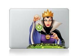 Evil Queen Macbook Decal Laptop Sticker Snow White Cartoon Vinyl Disney For Sale Online Ebay
