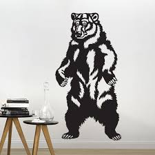 Bear Wall Decal Grizzly Wall Art Decor Decals Market