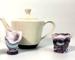 imperial purple w white slag glass
