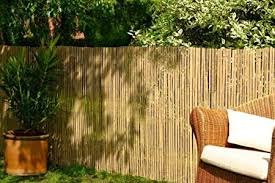 Best Artificial Real Bamboo Slat Fencing Screening Roll For Garden Outdoor Privacy 4m X 1m Amazon Co Uk Garden Outdoors