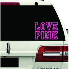 Love Pink Decal Sticker Hot Pink Girl Sexy Lip Mark Kiss Chick Room Ca Mymonkeysticker Com